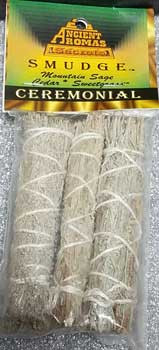 "Ceremonial Smudge Stick 3-pack 4"""