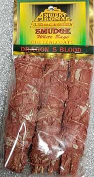 "Dragon's Blood Sage Smudge Stick 3-pack 4"""