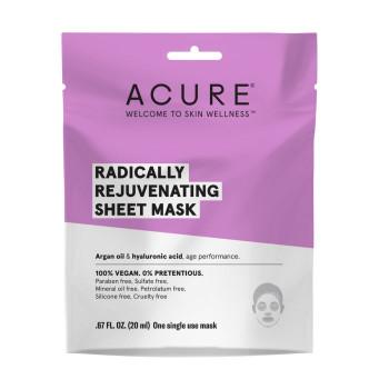 Acure - Sheet Mask - Rejuvenating - Case Of 12 - 1 Ea