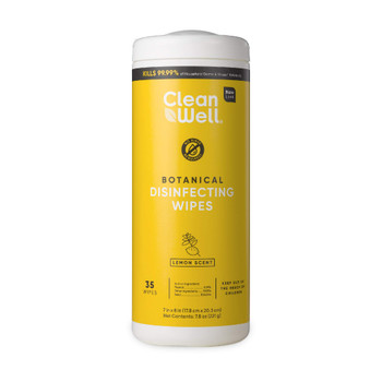 Cleanwell - Disinfecting Wipes Lemon - Case Of 9-35 Ct