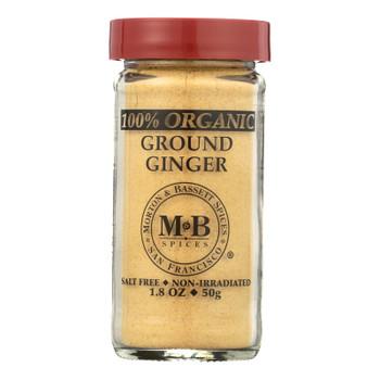 Morton And Bassett 100% Organic Ground Ginger - Case Of 3 - 1.8 Oz