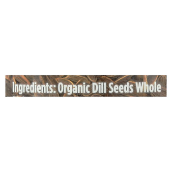Spicely Organics - Organic Dill Seed - Case Of 3 - 1.1 Oz.