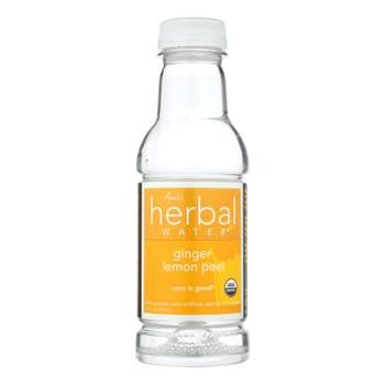 Ayala's Herbal Water - Ginger Lemon Peel - Case Of 12 - 16 Fl Oz.