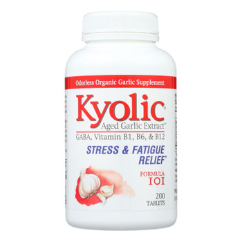 Kyolic - Aged Garlic Extract Stress And Fatigue Relief Formula 101 - 200 Tablets