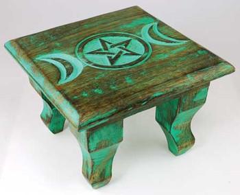 "Antiqued Triple Moon Altar Table 6"""