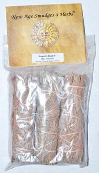 "Mountain Sage Dragon's Blood Sage Smudge Stick 3-pack 4"""