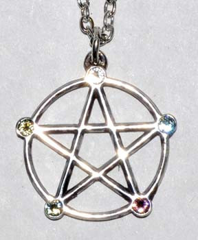 """1"""" Wiccan Elemental Pentagram"""