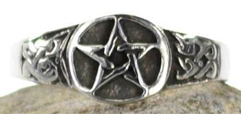 Pewter Pentagram Ring Size 11