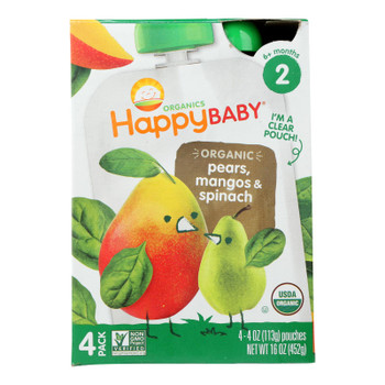 Happy Baby - Stage 2 Spin Mango Pear - Case Of 4-4/4 Oz