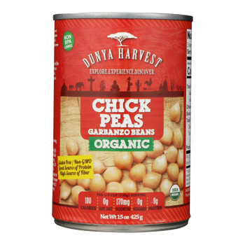 Dunya Harvest - Chickpeas Can - Case Of 12 - 15 Oz