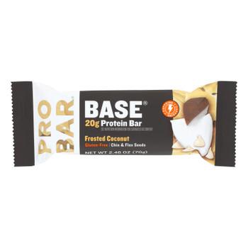 Probar - Base Prot Bar Frstd Coconut - Case Of 12 - 2.46 Oz