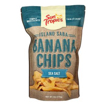Sun Tropics Island Saba Sea Salt Banana Chips  - Case Of 12 - 6 Oz