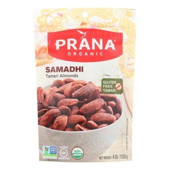 Prada Organic Samadhi Tamari Almonds  - Case Of 8 - 4 Oz