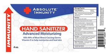 Absolute Immunity - Hand Sanitizer - Ea Of 1-4 Oz