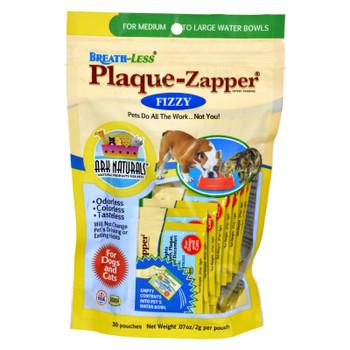 Ark Naturals Breath-less Plaque-zapper - Fizzy - Medium To Large Pets - 30 Count