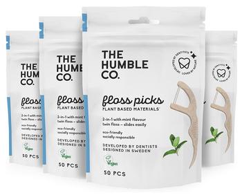 Humble Co - Floss Picks Cornstarch Mint - Case Of 12 - 50 Ct