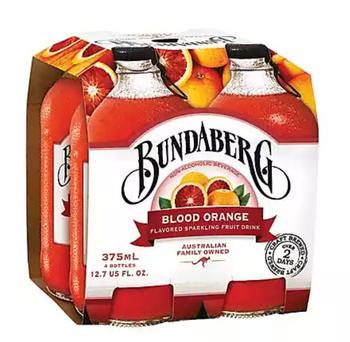 Bundaberg Soda - Blood Orange - 4pk - Case Of 6 - 4/375 Ml