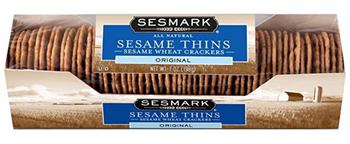 Sesmark Foods - Sesame Thins Garlic - Case Of 12 - 7 Oz