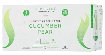 Limitless Coffee Sparkling Water Cucumber Pear - Case Of 3 - 8/12 Fz