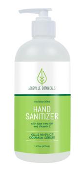 Ashville Botanicals - Sanitizer Hand - Cs Of 12-16 Fz