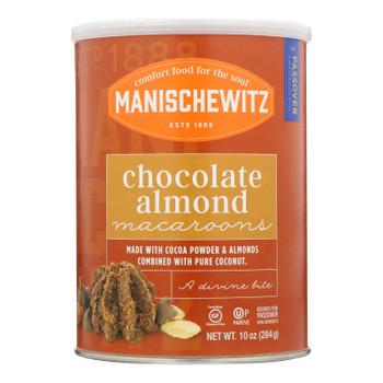 Manischewitz - Macaroon Chocolate Almond Kosher For Passover - Case Of 12-10 Oz