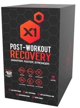 X1 Fuel - Postwrkot Recvr Natural Vanilla - 1 Each - 12 Ct