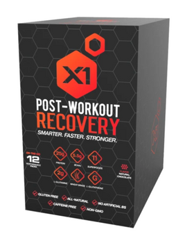 X1 Fuel - Post Workout Recovery Natural Chocolate - 1 Each - 12 Ct