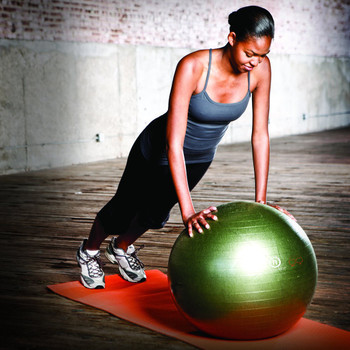 Natural Fitness - Exercise Ball Small Olive - 1 Each - 3 Lb