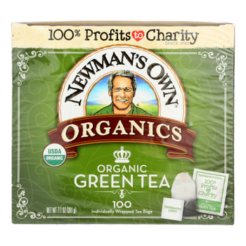 Newman's Own Organics Organic Green Tea Bags  - Case Of 5 - 100 Ct