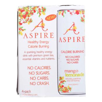 Aspire Mango Lemonade Sparkling Beverage  - Case Of 6 - 4/12 Oz