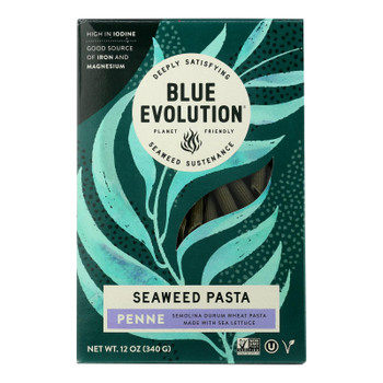Blue Evolution - Wheat And Seaweed Pasta - Penne - Case Of 6 - 12 Oz.