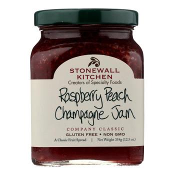 Stonewall Kitchen Raspberry Peach Champagne Jam - Case Of 12 - 12.5 Oz