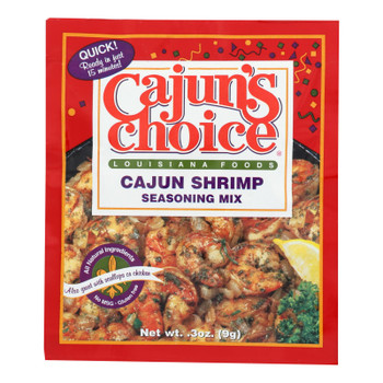 Cajun Choice - Mix Shrimp Seasoning - Case Of 12 - .3 Oz