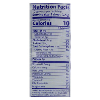 Eden Foods Nori - Sea Vegetable - Cultivated - Untoasted - .88 Oz - Case Of 6