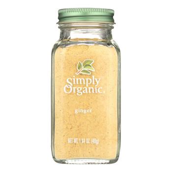 Simply Organic Ginger Root - Organic - Ground - 1.64 Oz