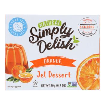 Simply Delish Natural Jel Dessert - Orange - Case Of 6 - 1.6 Oz.