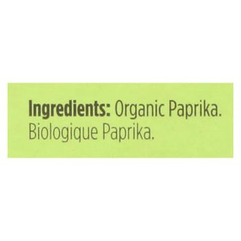 Spicely Organics - Organic Paprika - Case Of 6 - 0.45 Oz.