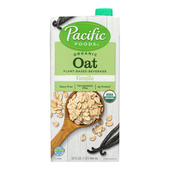 Pacific Natural Foods Oat Vanilla - Non Dairy - Case Of 12 - 32 Fl Oz.