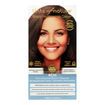 Tints Of Nature 4ch Rich Chocolate Brown Hair Color  - 1 Each - 4.4 Fz