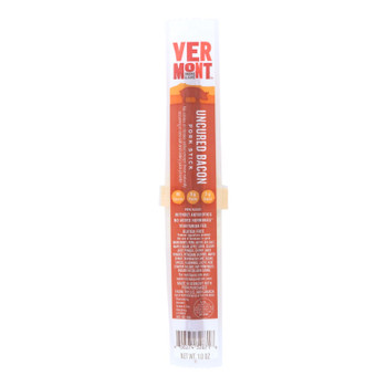 Vermont Smoke And Cure Pork Stick - Uncured Bacon - Case Of 24 - 1 Oz