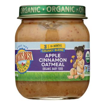 Earth's Best - Stage 3 Apple Cinnamon Oatmeal - Case Of 10-4 Oz