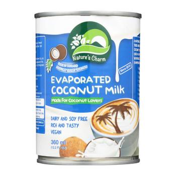 Nature's Charm Evaporated Coconut Milk - Case Of 6 - 12.2 Oz.