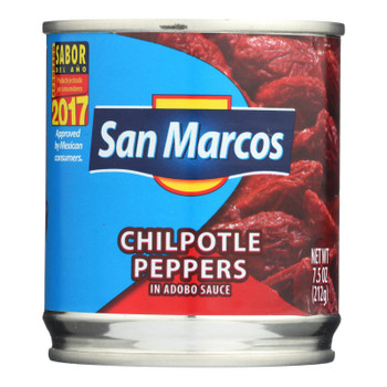 San Marcos Peppers - Chipolte - Case Of 24 - 7.5 Oz