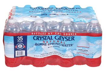 Crystal Geyser Alpine Spring Water, Spring Water  - Case Of 1 - 35/16.9z