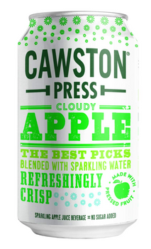Cawston Press - Sparkling Water Cloudy Apple 4pk - Case Of 6 - 4/11.15z
