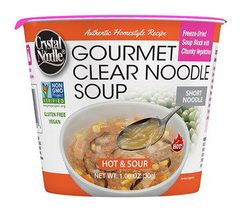 Crystal Noodle - Soup Hot & Sour Non-GMO - Case Of 6 - 1.06 Oz