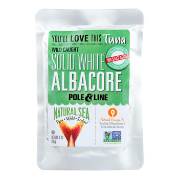 Natural Sea Wild Albacore Tuna Pouch, Unsalted, Solid White - 1 Each 1 - 3 Oz