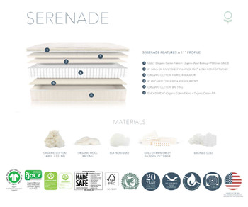 Naturepedic Serenade Organic Mattress - Cushion-Firm