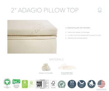 """Naturepedic Adagio 2"""" Organic Mattress Topper"""