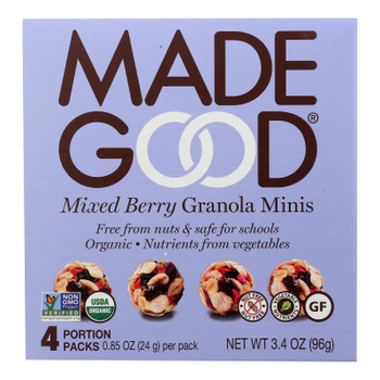 Made Good - Granola Mini Mixed Berry - Case Of 6-5/.85oz